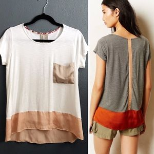 Anthropologie Dolan Color Block Tee